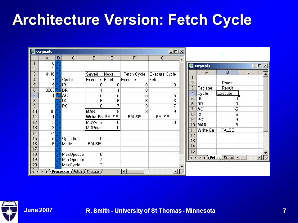 June R. Smith - University of St Thomas - Minnesota Architecture Version: Fetch Cycle