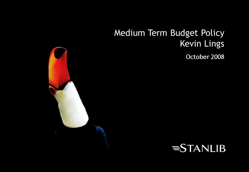 Medium Term Budget Policy Kevin Lings October 2008
