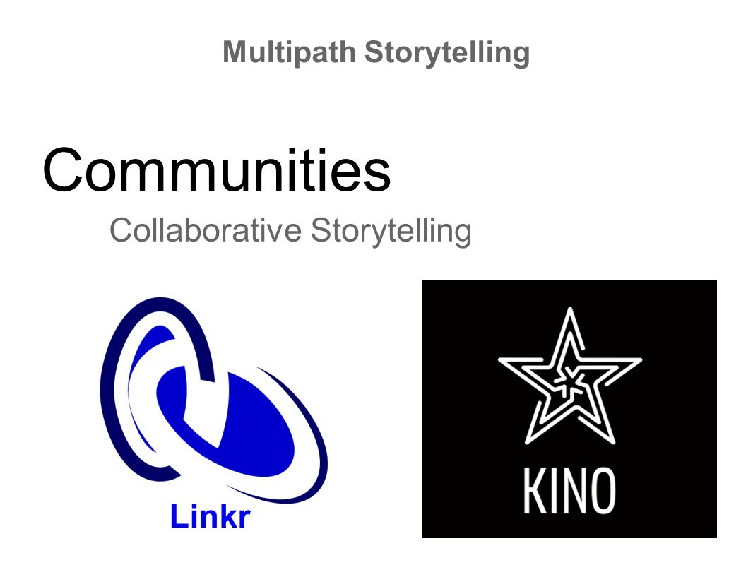Communities Collaborative Storytelling Multipath Storytelling Linkr