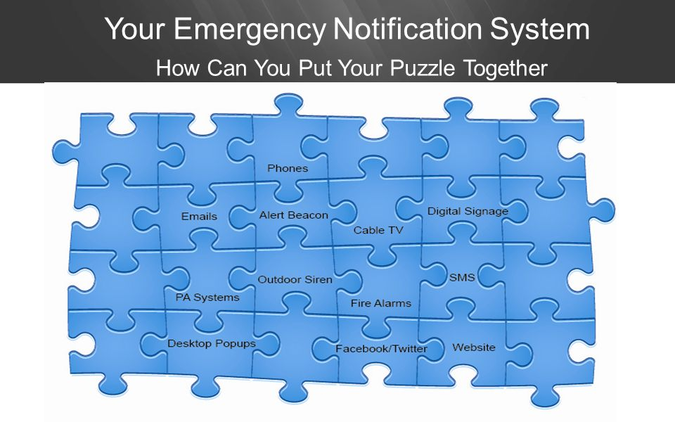 Your Emergency Notification System How Can You Put Your Puzzle Together