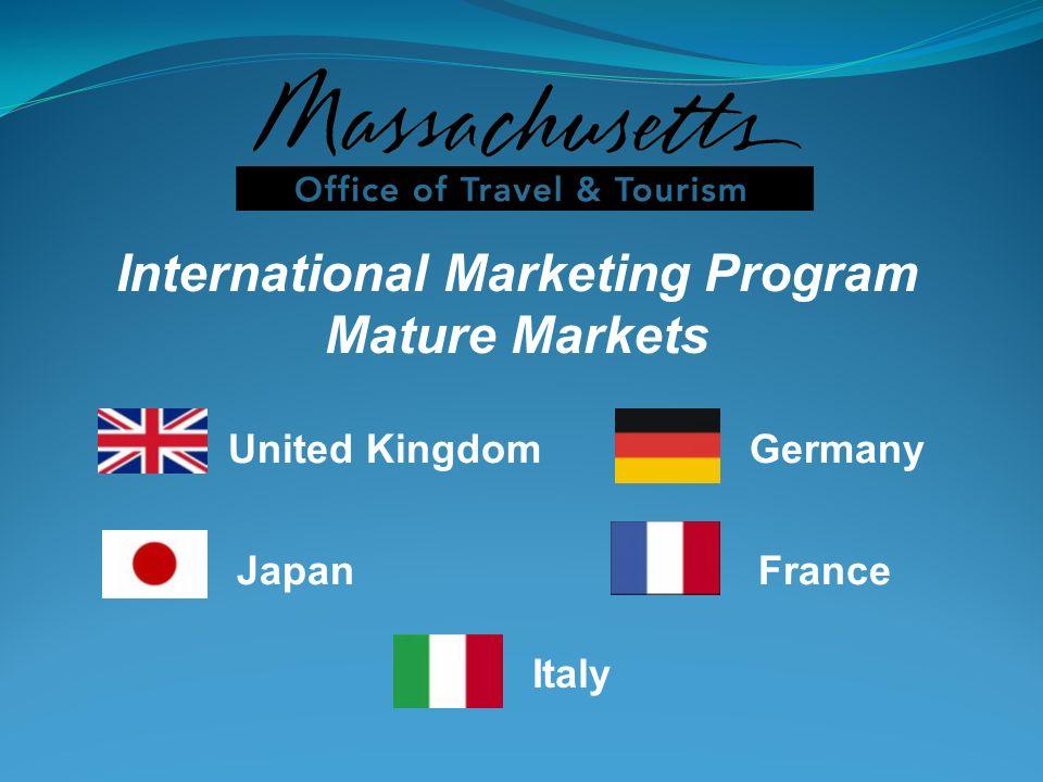 International Marketing Program Mature Markets United KingdomGermany JapanFrance Italy