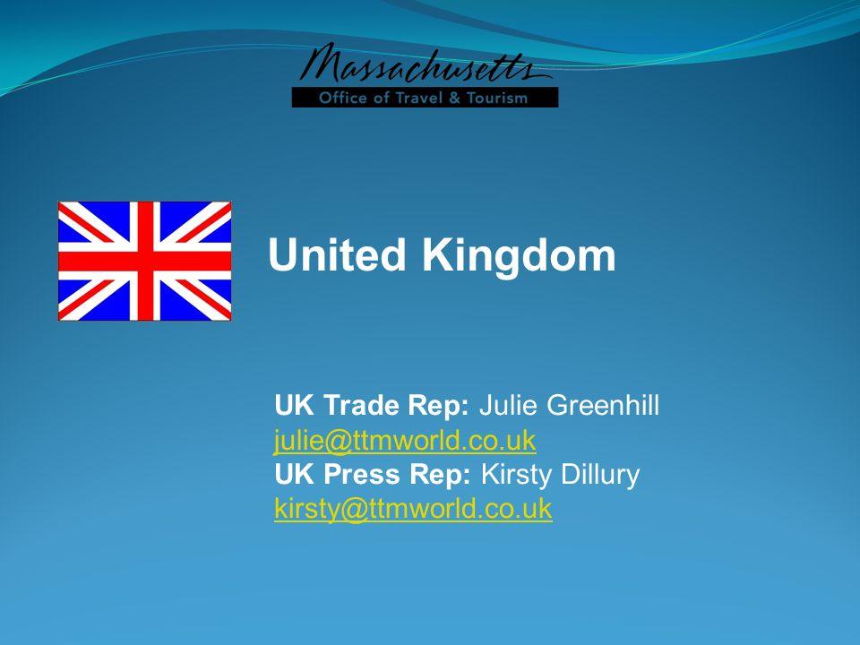 United Kingdom UK Trade Rep: Julie Greenhill julie@ttmworld.co.uk UK Press Rep: Kirsty Dillury kirsty@ttmworld.co.uk
