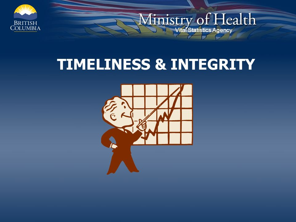 Vital Statistics Agency TIMELINESS & INTEGRITY