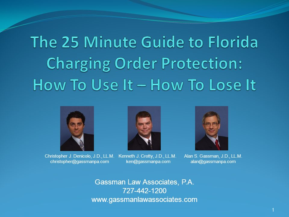 What is a Charging Order.
