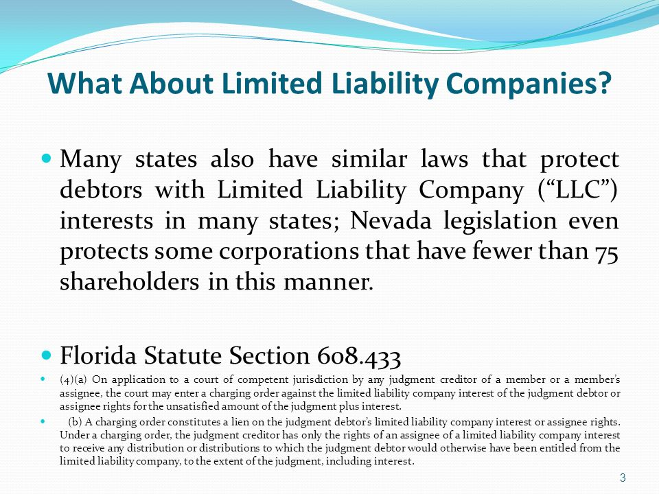 (c) This chapter does not deprive any member or members assignee of the benefit of any exemption law applicable to the members limited liability company interest or the assignees rights to distributions from the limited liability company.