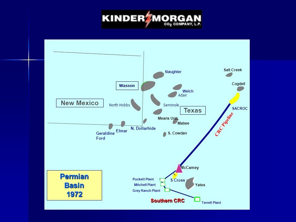 Southern CRC CRC Pipeline McCamey New Mexico Welch Slaughter SACROC Salt Creek Terrell Plant Grey Ranch Plant Mitchell Plant Puckett Plant CRC Pipelin