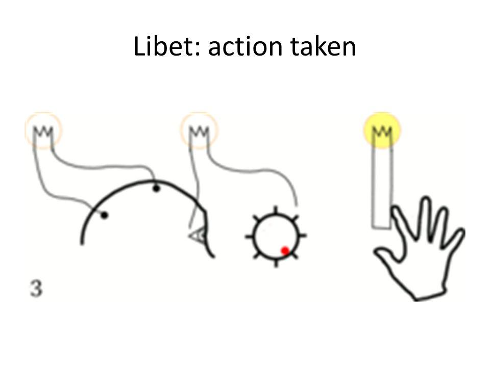 Libet: action taken