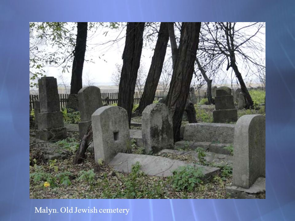 Malyn. Old Jewish cemetery