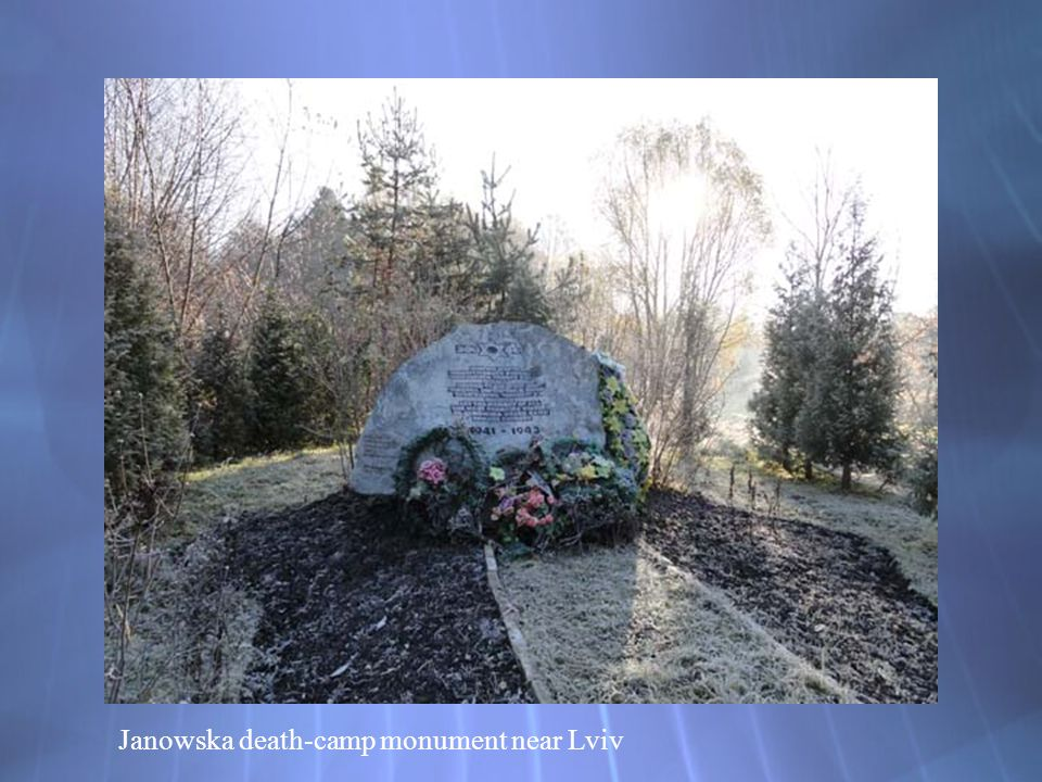 Janowska death-camp monument near Lviv