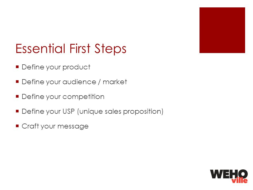 First Steps / What Are You Selling? Are You Selling an Item, an Experience, Service or Glamour?