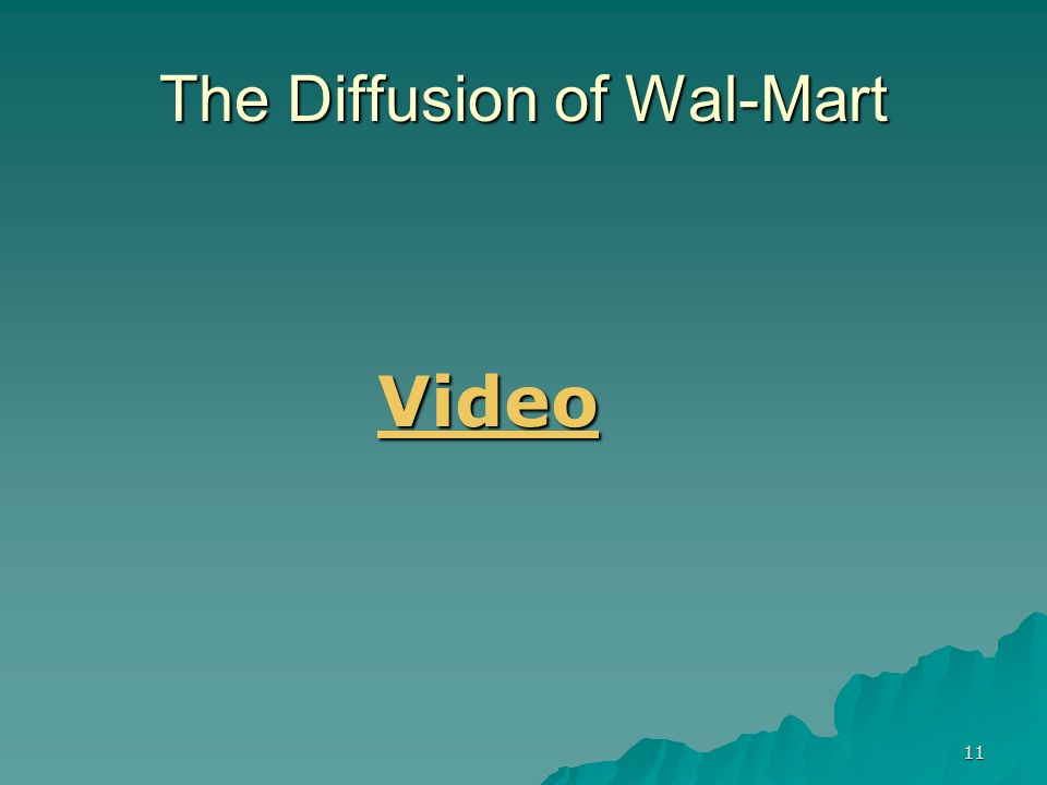 11 The Diffusion of Wal-Mart Video