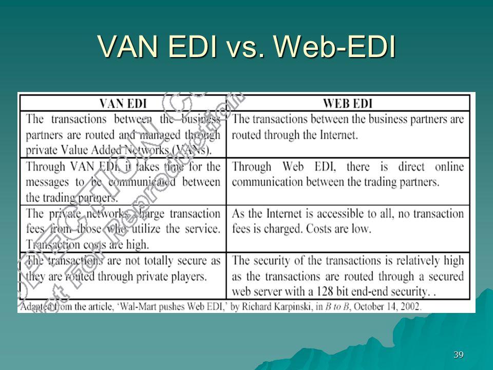 39 VAN EDI vs. Web-EDI