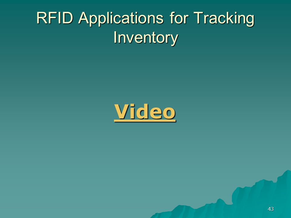 43 RFID Applications for Tracking Inventory Video
