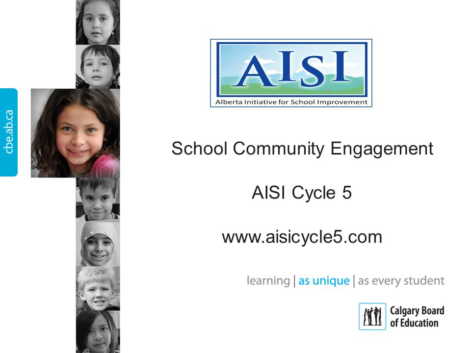 School Community Engagement AISI Cycle 5 www.aisicycle5.com