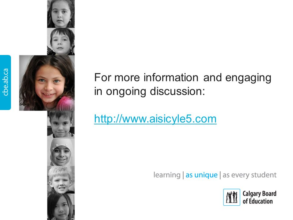 For more information and engaging in ongoing discussion: http://www.aisicyle5.com http://www.aisicyle5.com