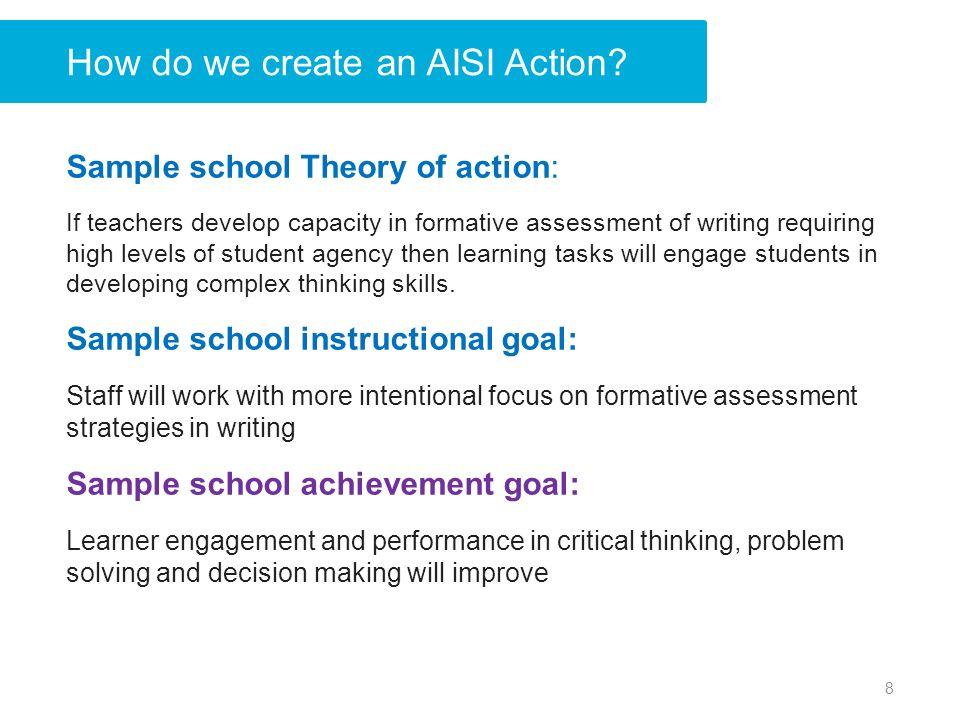 How do we create an AISI Action.