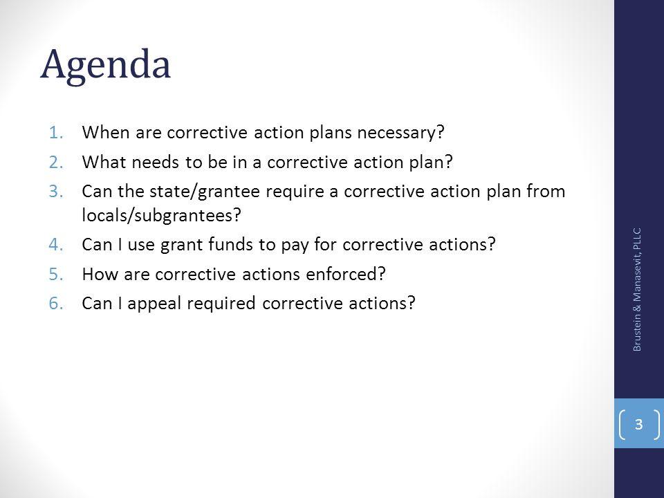 WHEN ARE CORRECTIVE ACTION PLANS NECESSARY? Brustein & Manasevit, PLLC 4