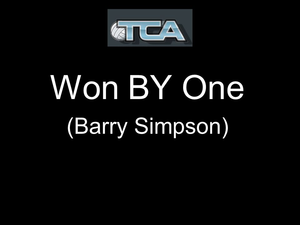 Won BY One (Barry Simpson)