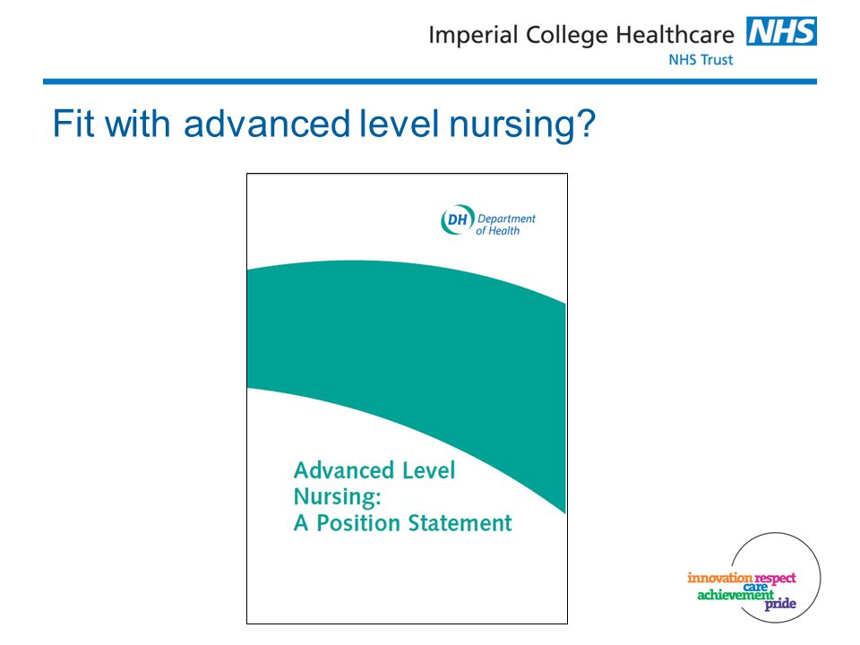 Fit with advanced level nursing?