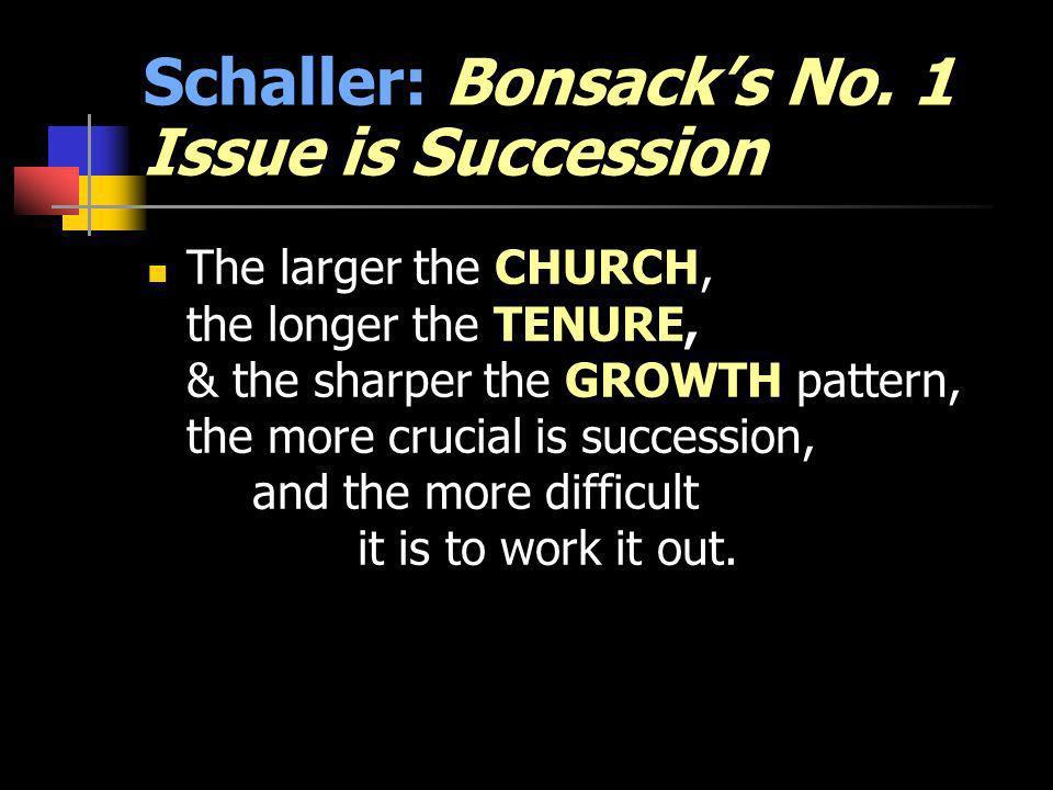 Schaller: Bonsacks No.