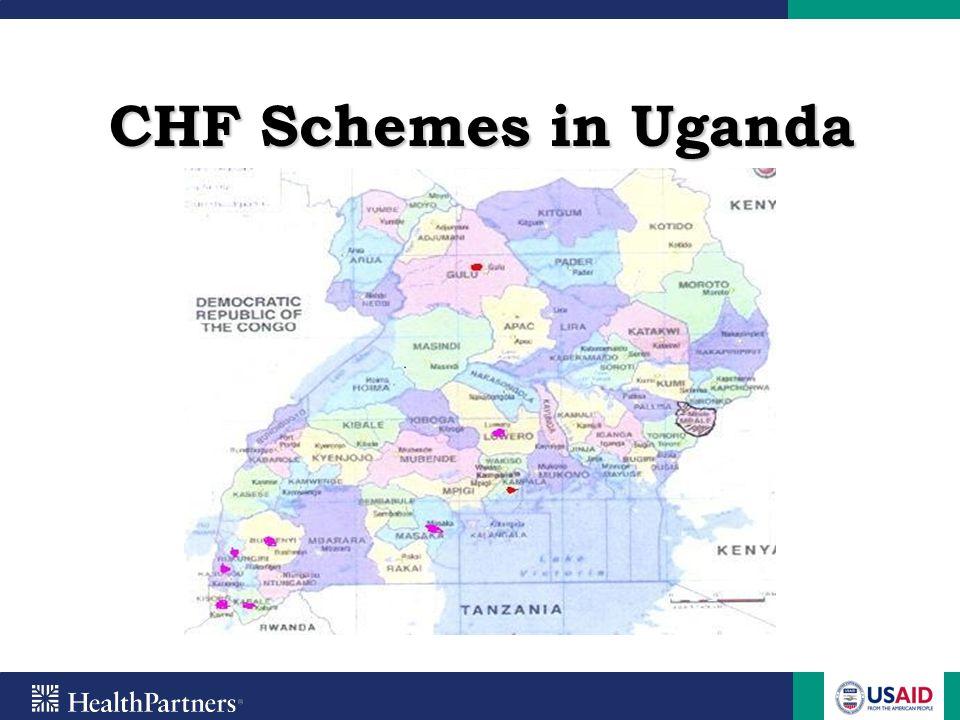CHF Partners Ministry of Health HealthPartners Uganda Health Cooperative EED thru CHeFA-EA CORDAID Save for Health Uganda Health Providers