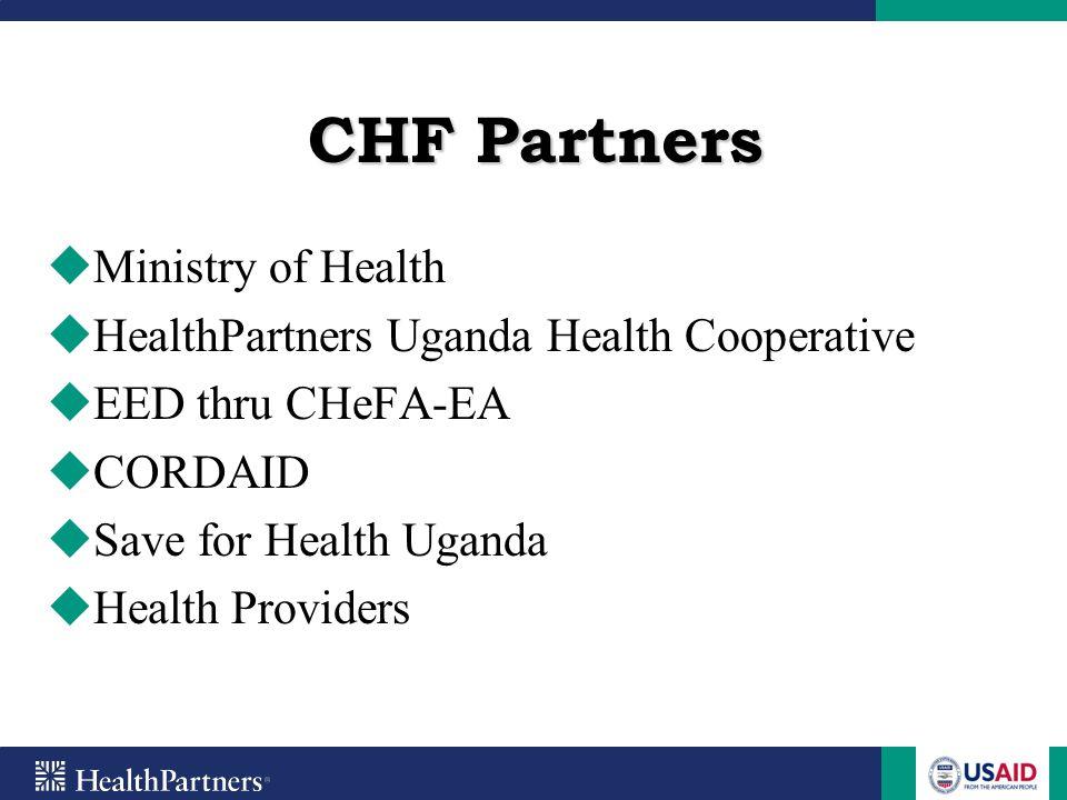 Uganda Health Cooperative HealthPartners Uganda Health Cooperative (UHC) is an NGO affiliated to HealthPartners, a Minnesota not for profit health maintenance organization.