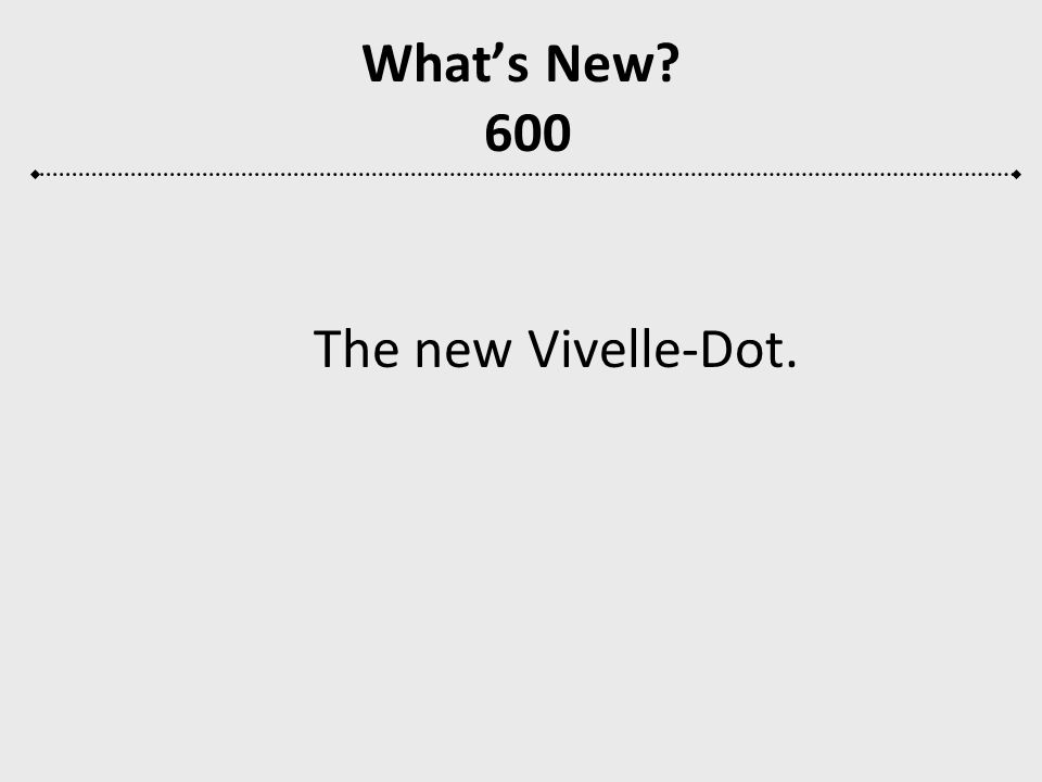 Whats New? 600 The new Vivelle-Dot.