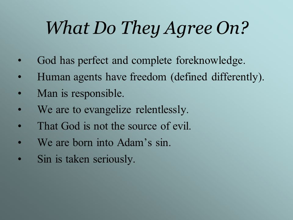 What Do They Disagree On.The causal relationship of regeneration and faith.