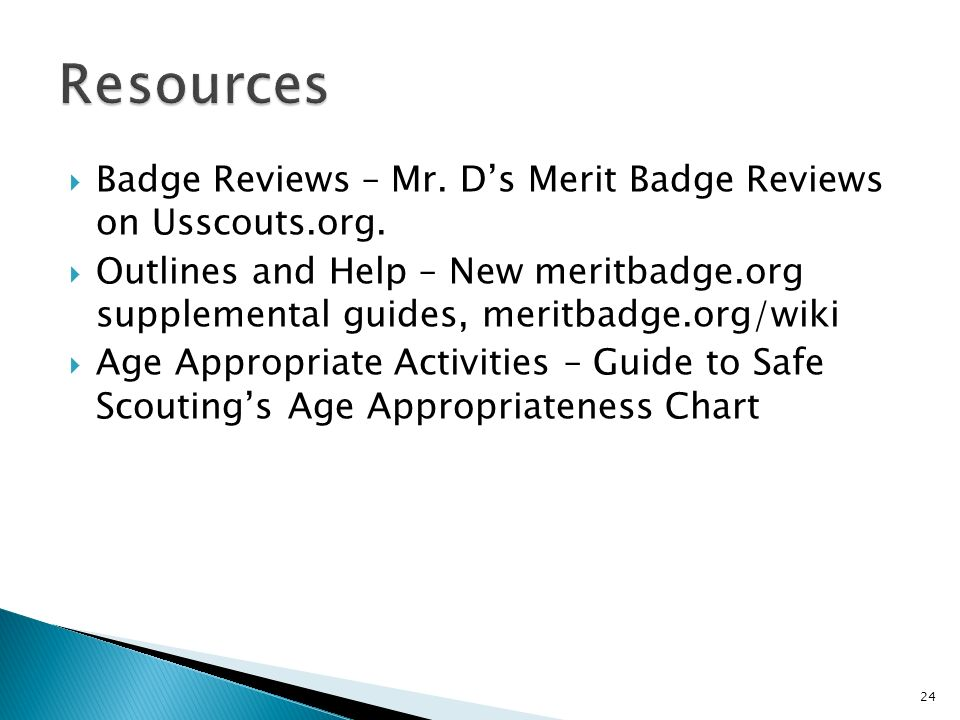 Badge Reviews – Mr. Ds Merit Badge Reviews on Usscouts.org.