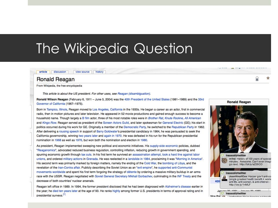The Wikipedia Question
