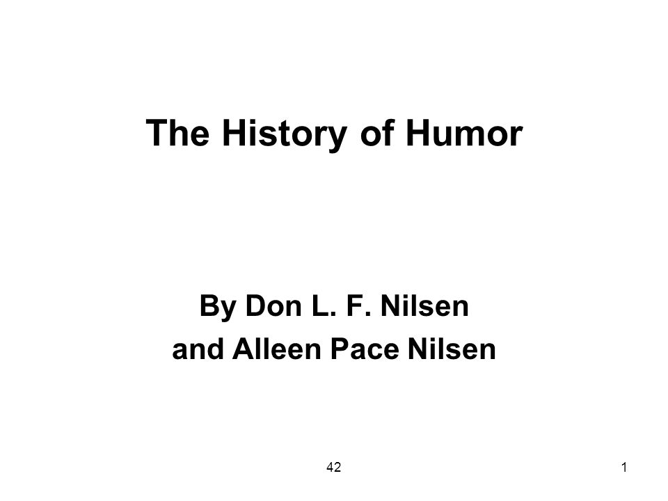 4252 History of the International Society for Humor Studies History of America: http://www.youtube.com/watch?v=aLdQ4DUnnw4&feature=fvw Don L.