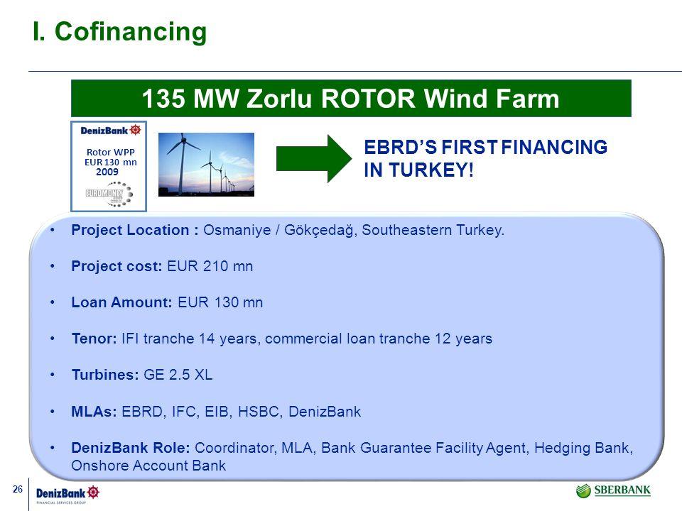 26 Project Location : Osmaniye / Gökçedağ, Southeastern Turkey. Project cost: EUR 210 mn Loan Amount: EUR 130 mn Tenor: IFI tranche 14 years, commerci