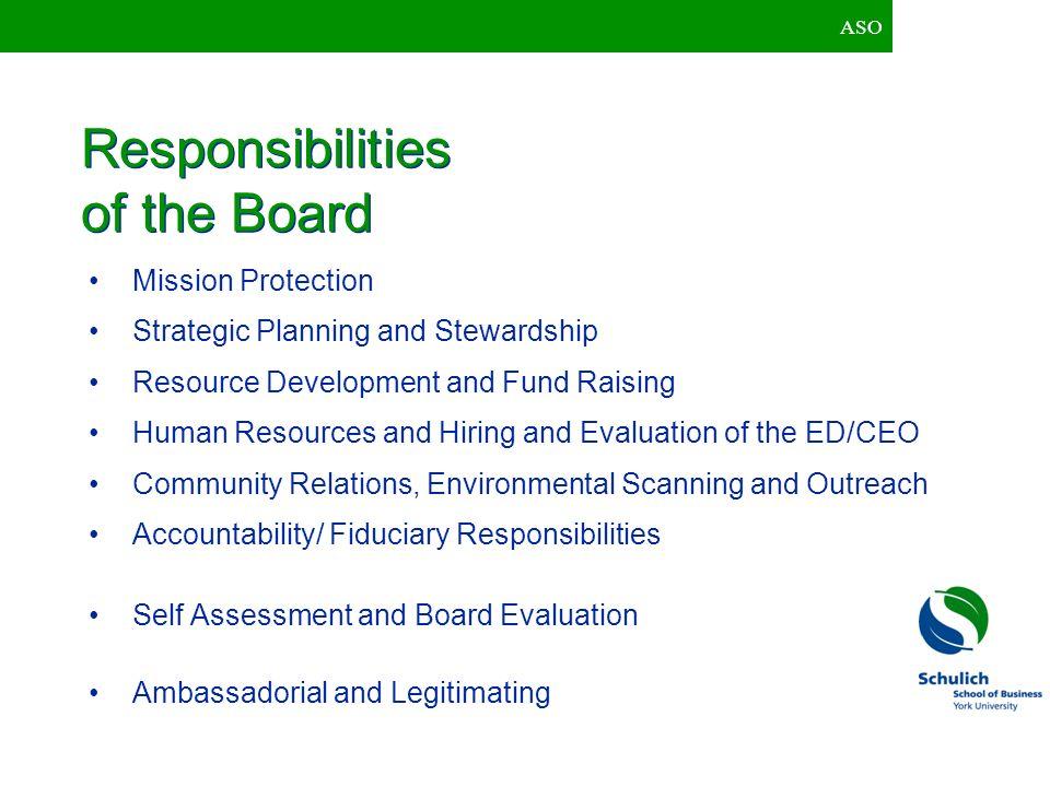 ASO Entrepreneurial Board Configuration less formalization (e.g.