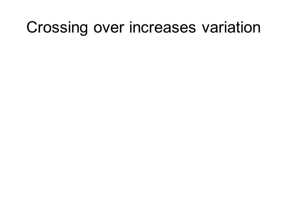 Crossing over increases variation In the first division of meiosis the homologous chromosomes associate chiasma recombinant chromosome