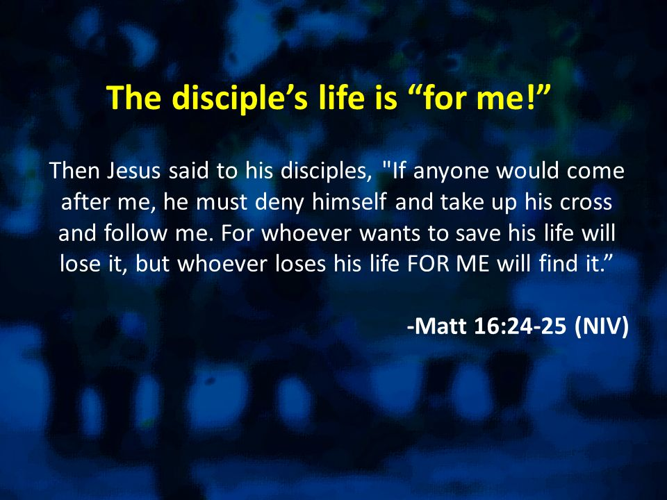 Question: As a disciple of Christ… …are you willing to suffer for the cause of Christ… to possibly even die?