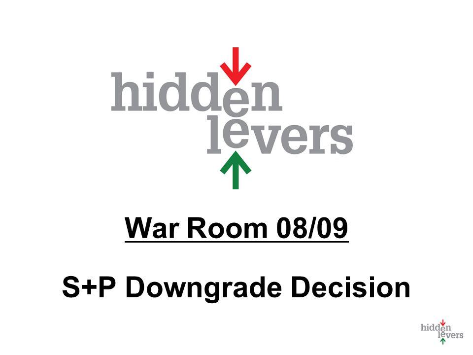 War Room 08/09 S+P Downgrade Decision