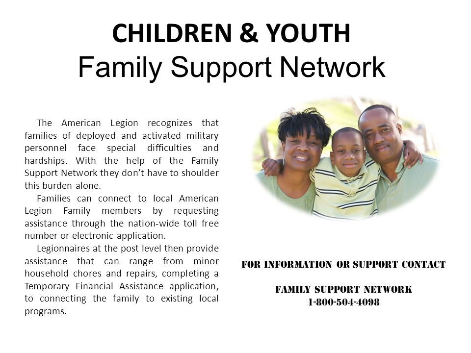 CHILDREN & YOUTH Temporary Financial Assistance TFA is the landmark program of the National Commission on Children & Youth and was established in 1925, as a form of direct aid to children.