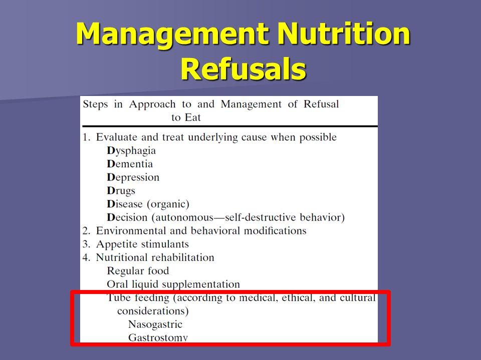 Management Nutrition Refusals