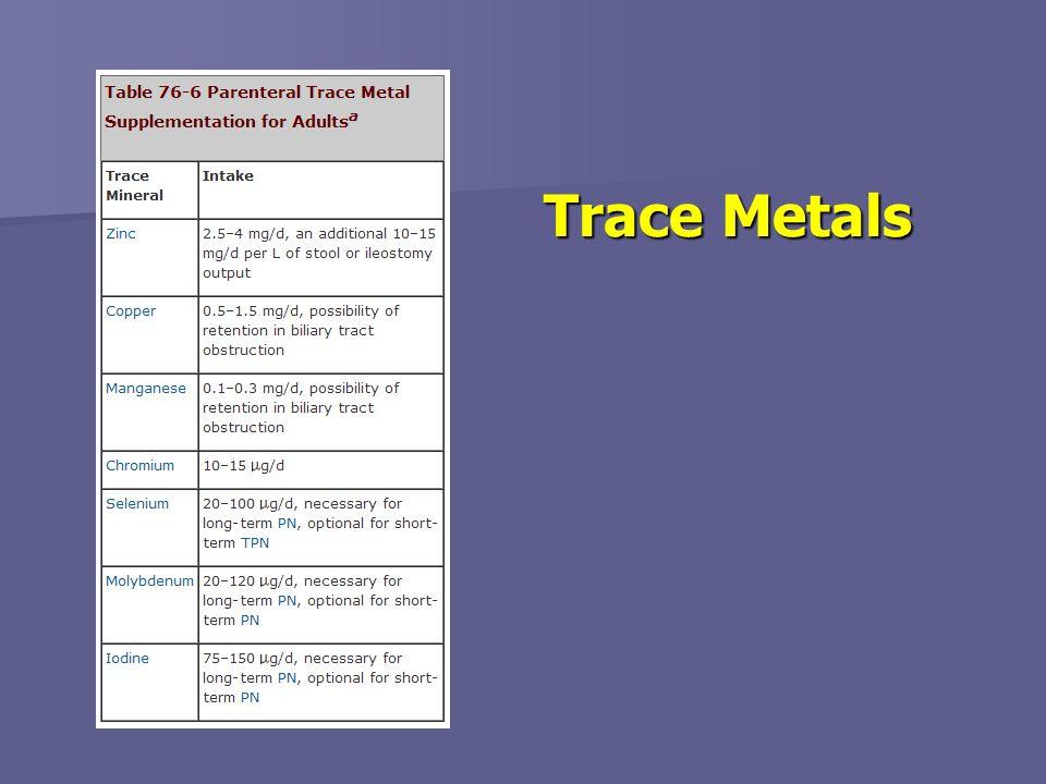 Trace Metals