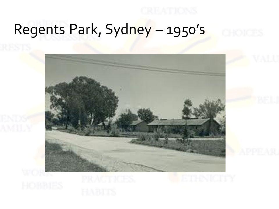 Regents Park, Sydney – 1950s