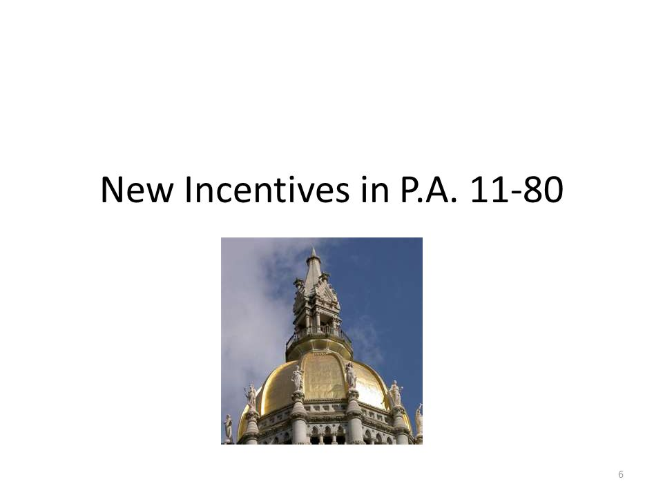 New Incentives in P.A