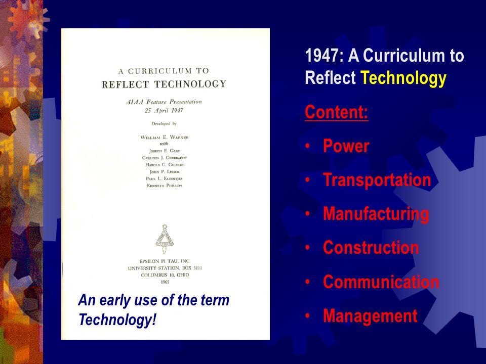 A Conceptual Framework for Technology Education (1990) -- E.
