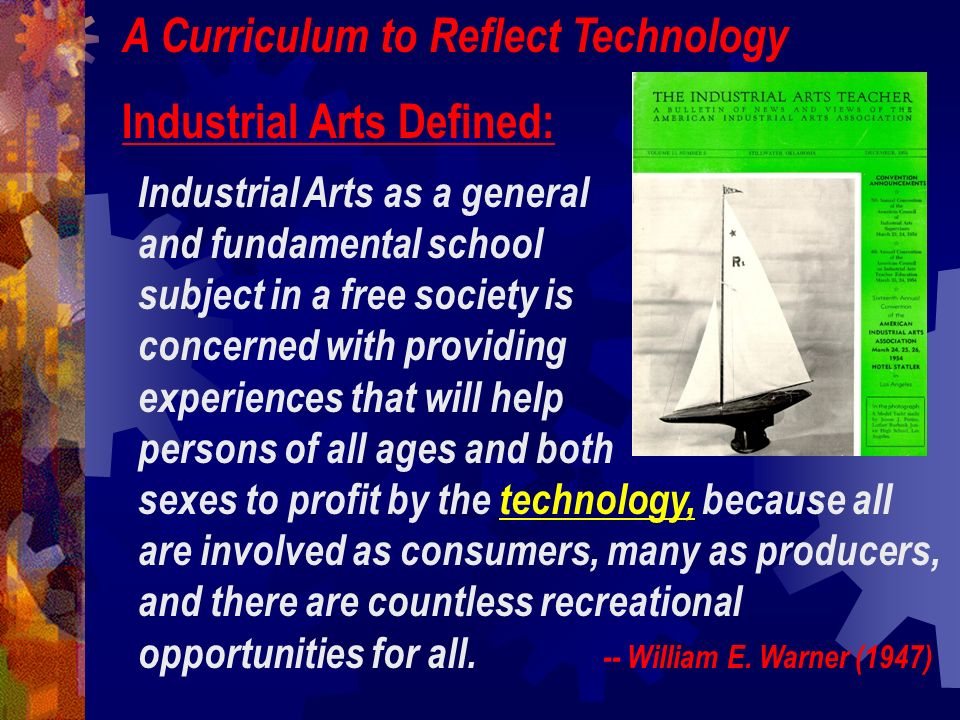Technological knowledge can be classified as: Bio-Related Technology Communication Technology Production Technology Transportation Technology A Conceptual Framework for Technology Education (1990) -- E.