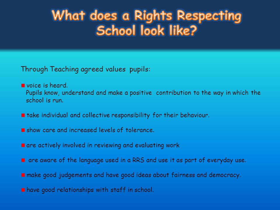 Through Teaching agreed values pupils: voice is heard. Pupils know, understand and make a positive contribution to the way in which the school is run.