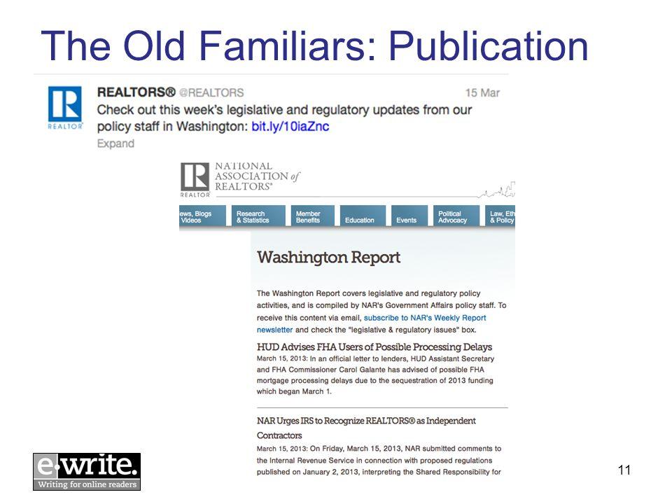 The Old Familiars: Publication © E-WRITE 201311
