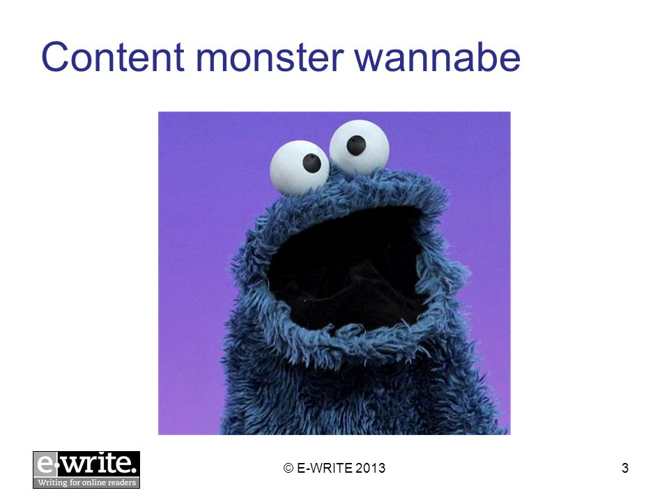 A good web content heading = good social media message © E-WRITE 201324