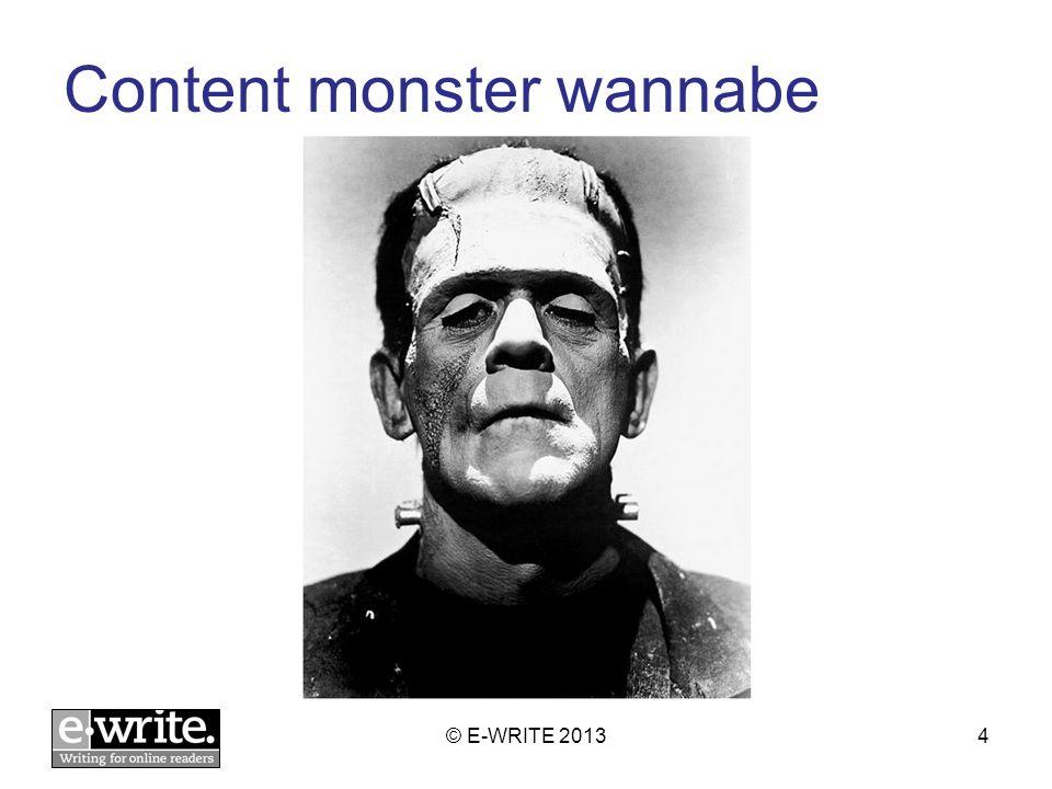 Content monster © E-WRITE 20135