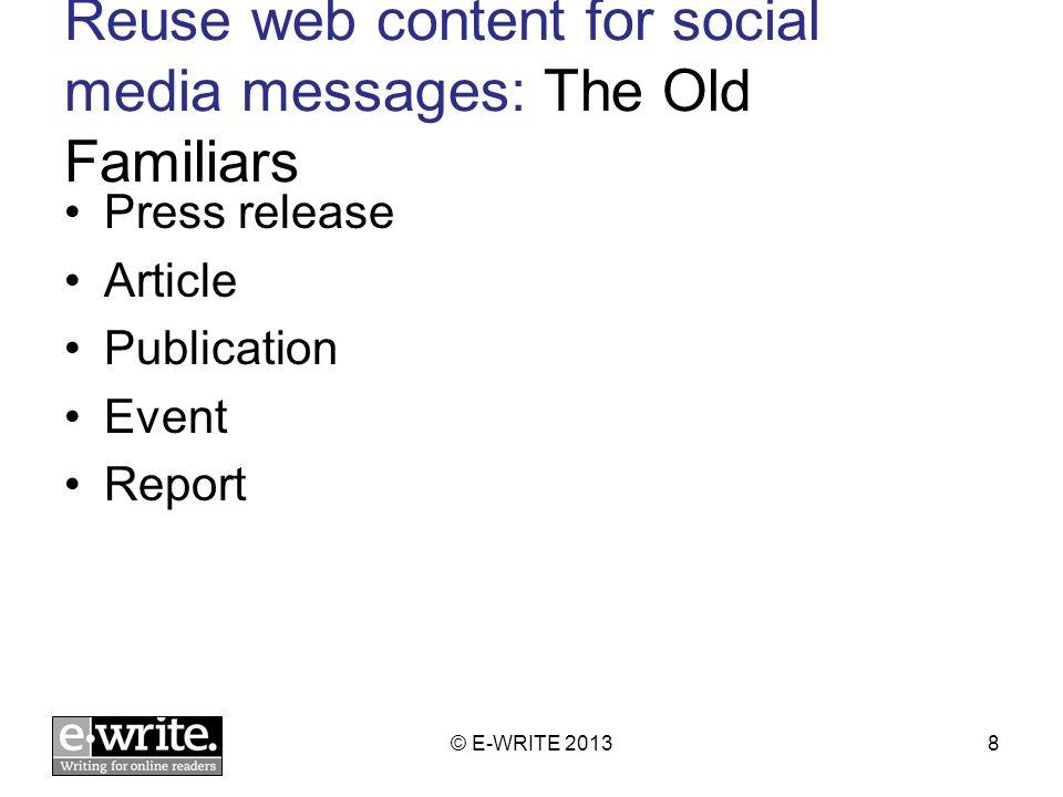 Obligatory content doesnt make good social media messages © E-WRITE 201329