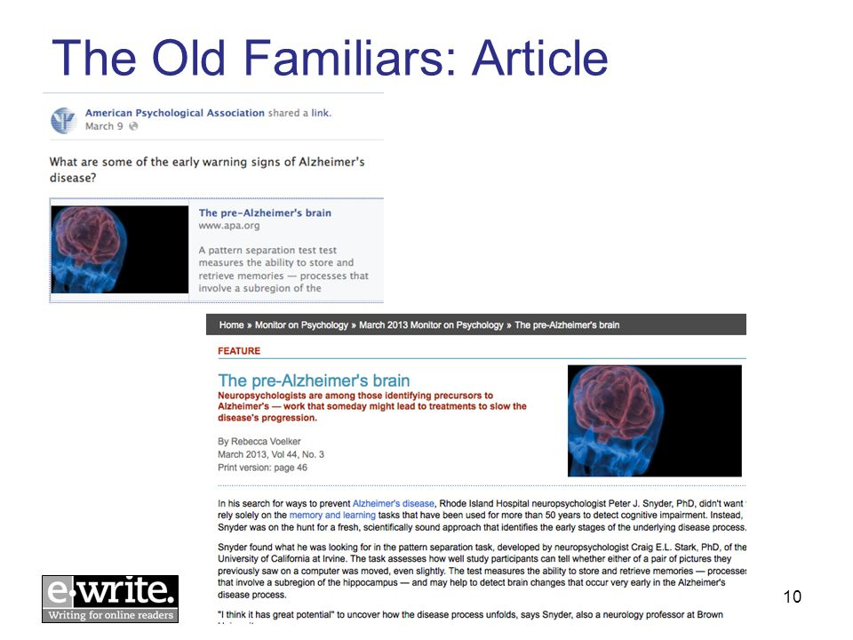 The Old Familiars: Article © E-WRITE 201310