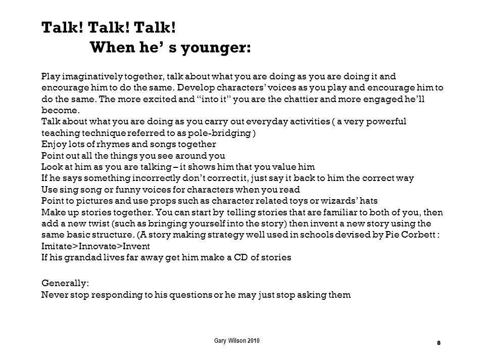 Talk. Talk. Talk.